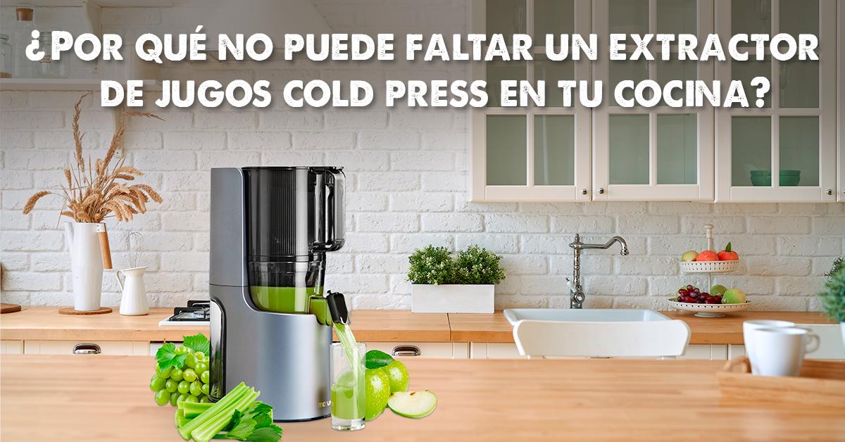 Por qué no puede faltar un extractor de jugos cold press en tu cocina